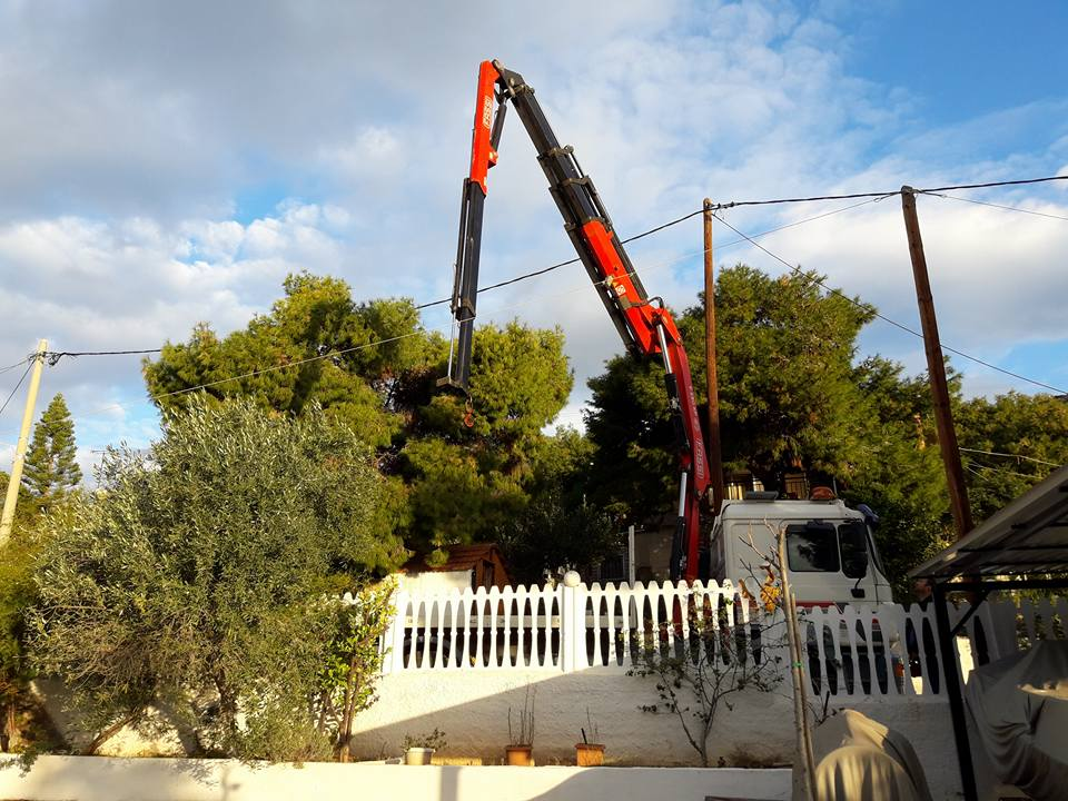 μεταφορές με τηλεσκοπικό γερανό Αθήνα